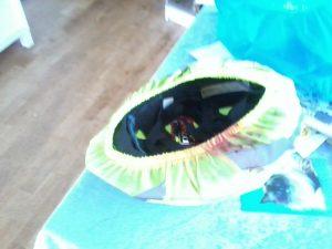 Min hjelm efter uheldet