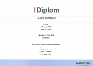 Diplom Navision XAL/C5 Ehandel